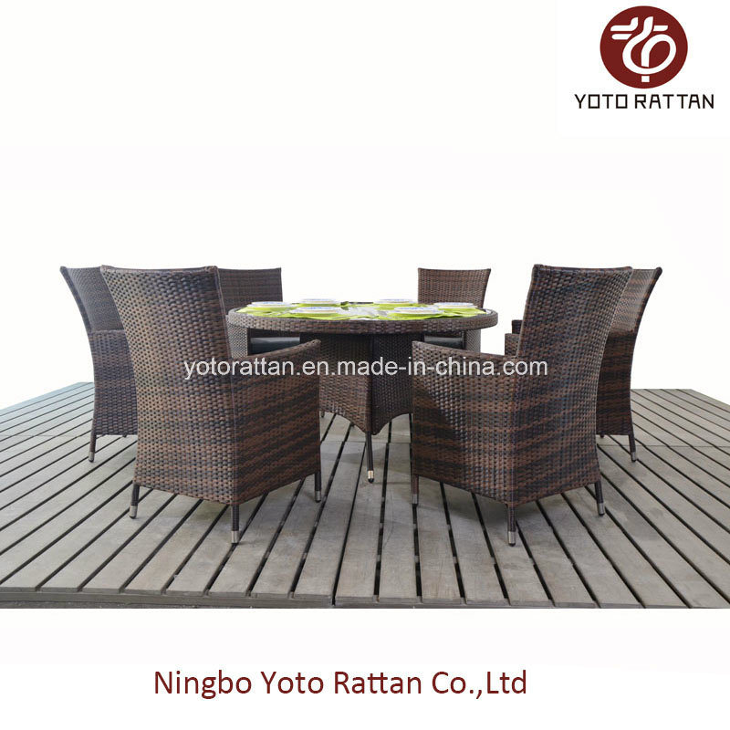 Outdoor Round Table with 6 Chairs (1208)