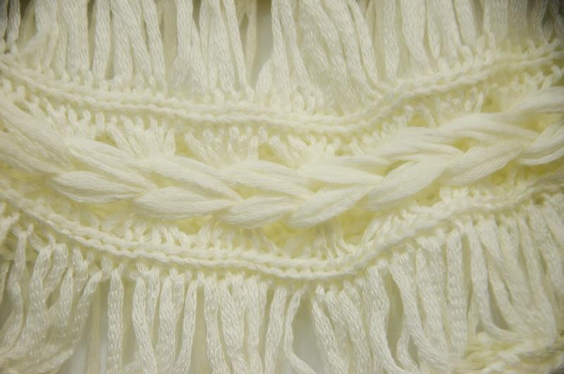 Women Fashion Loose Crochet Patterned Chiffion T-Shirt