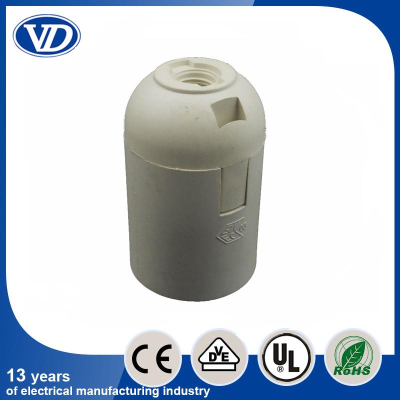 Plastic Snap Type E27 Lamp Holder White Color