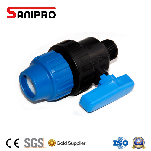 PP Pipe Fitting PP Male True Union Ball Valve