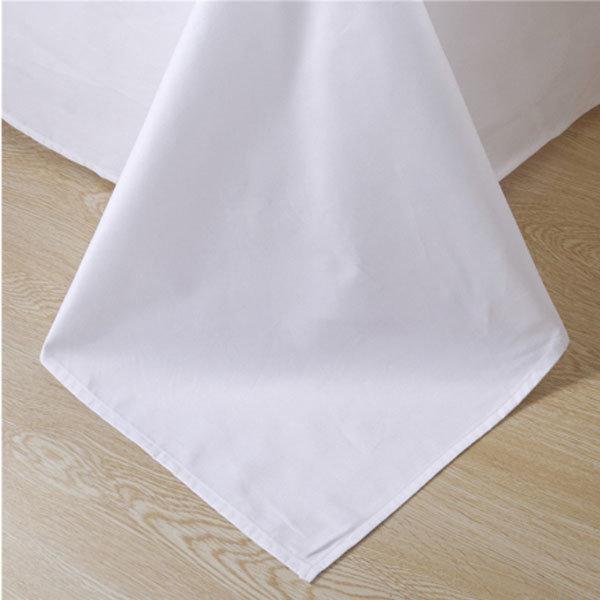 Cotton 200tc Plain White Hotel Duvet Cover Set/Hotel Bedding Set