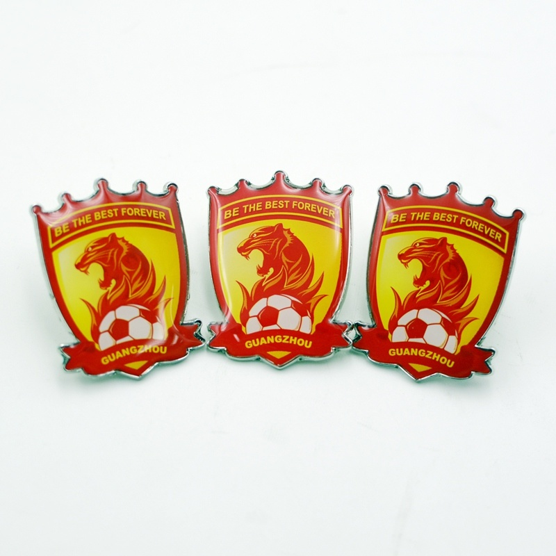 Custom Transparent Team Metal Pin Badge Made in China Factory