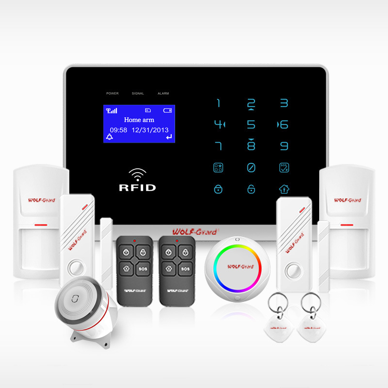 Wolf-Guard Smart Wireless GSM Home Safe Burglar Security Alarm with Smoke Detecor