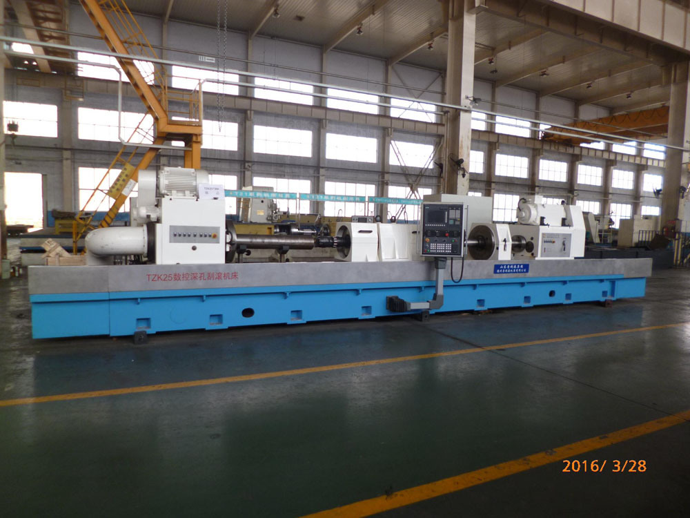 Deep Hole Skiving and Rolling Machine