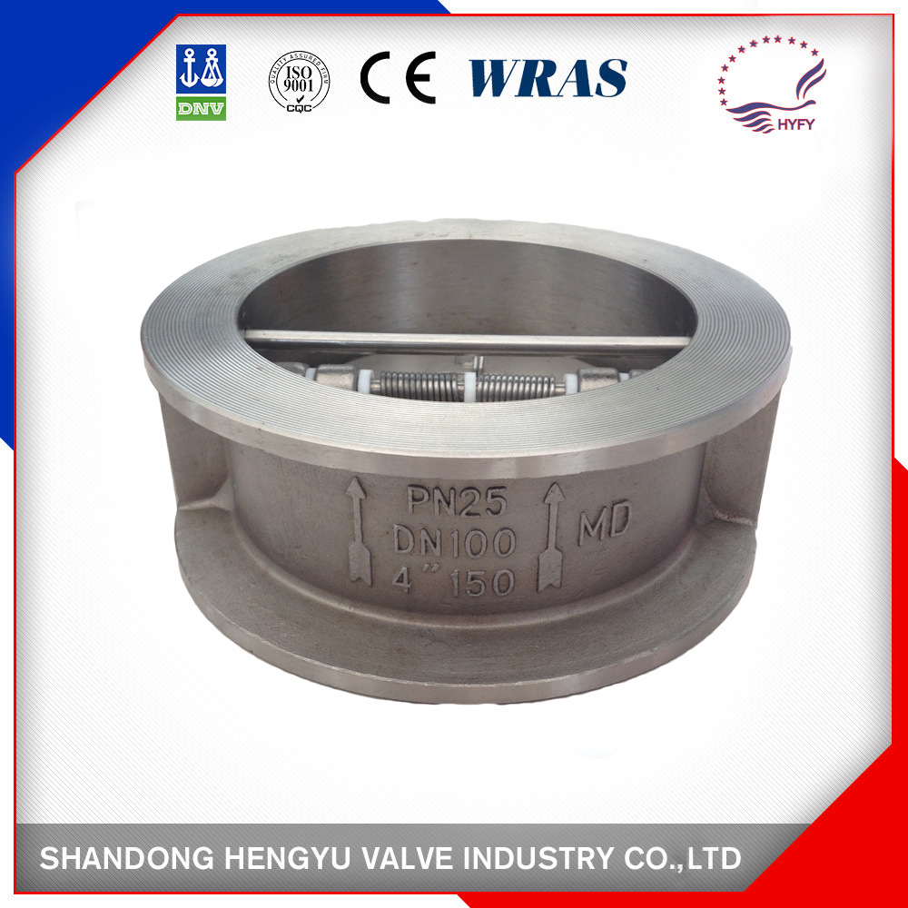 Stainless Steel Double Disc Check Valve with Spring