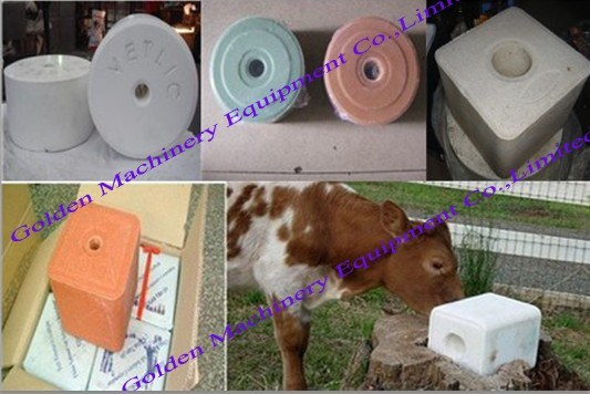 Chinese Animal Nutrition Hydraulic Mineral Licking Salt Block Press Machine