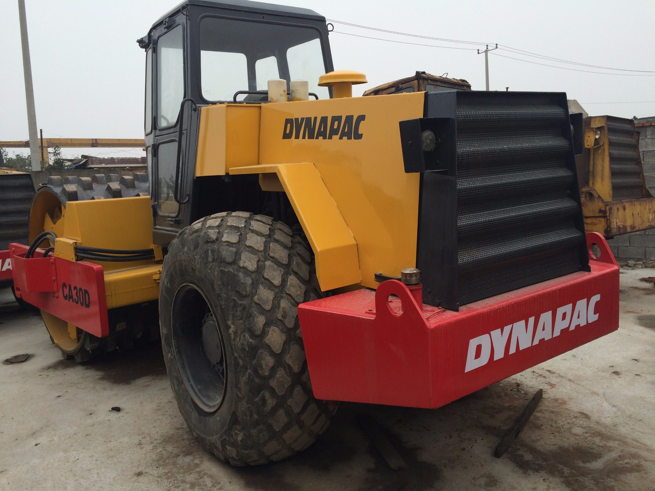 Used Water-Cooled Dynapac Ca30d Road Roller with Sheet Pad Feet