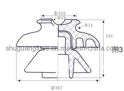ANSI 56-3 Porcelain Pin Insulator