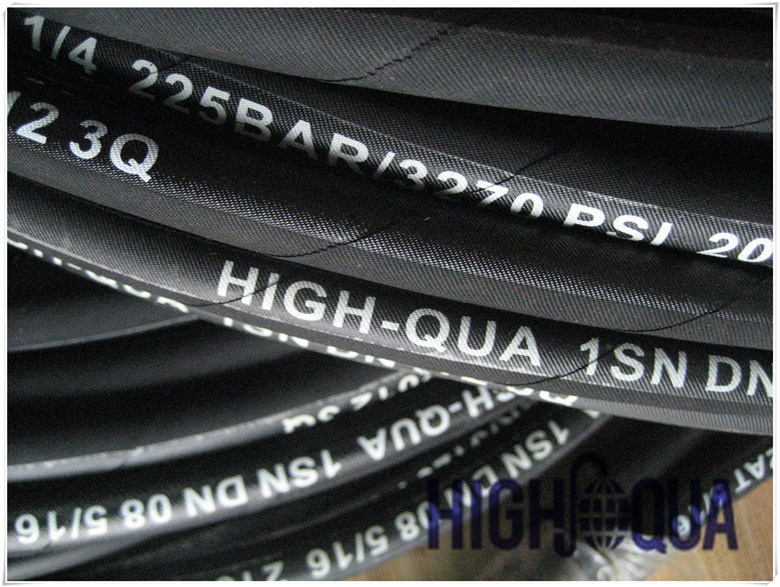 China Best Hot Product Steel Wire Braid Hydraulic Hose 1sn Professional Manufacturer