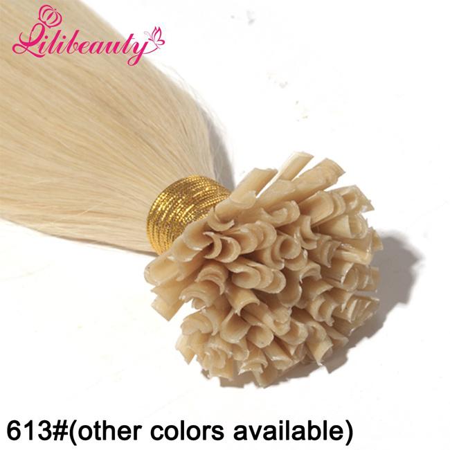 Brazilian Remy Blonde Virgin Hair U Tip Human Hair Extensions