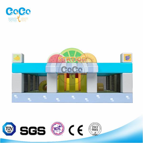 Popular-Style Cocowater inflatable Fruit Station Bouncer/Slide for Kindergarden LG9038