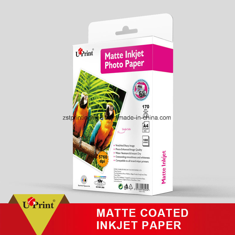 Matte Coated Paper Waterproof Inkjet Photo Paper
