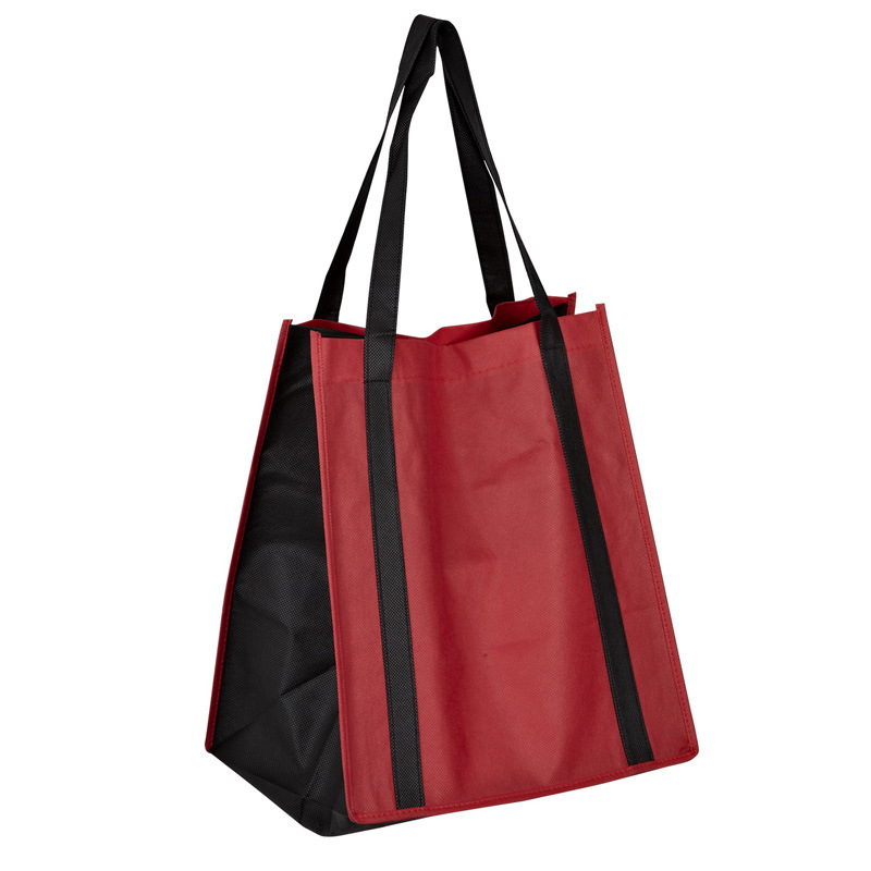 Handle Run From Top to Button PP Non Woven Tote Carry Bag (CN-JSNW-83)