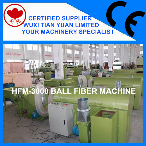 Pearl Polyester Staple Ball Fiber Machine with CE Certification Approved (HFM-3000)