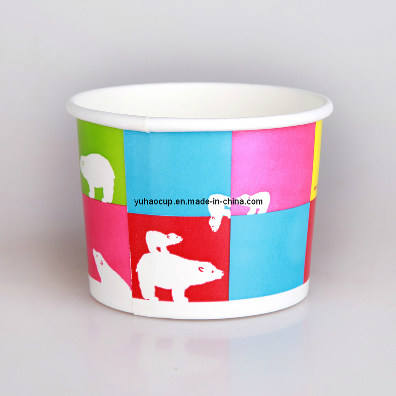 4/6/8/12oz Paper Cup for Yogurt and Ice Cream