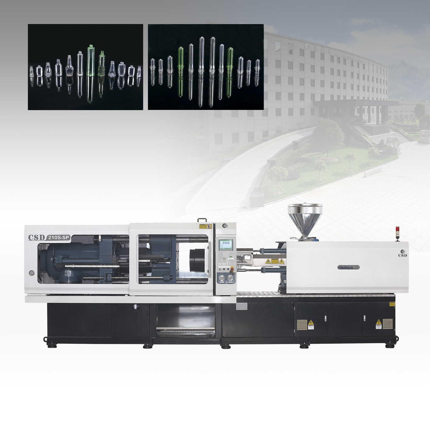 CE Approved with SP Series High Precision & Direct Pressure Injection Molding Machine (50-300T) (CSD-210S-SP)
