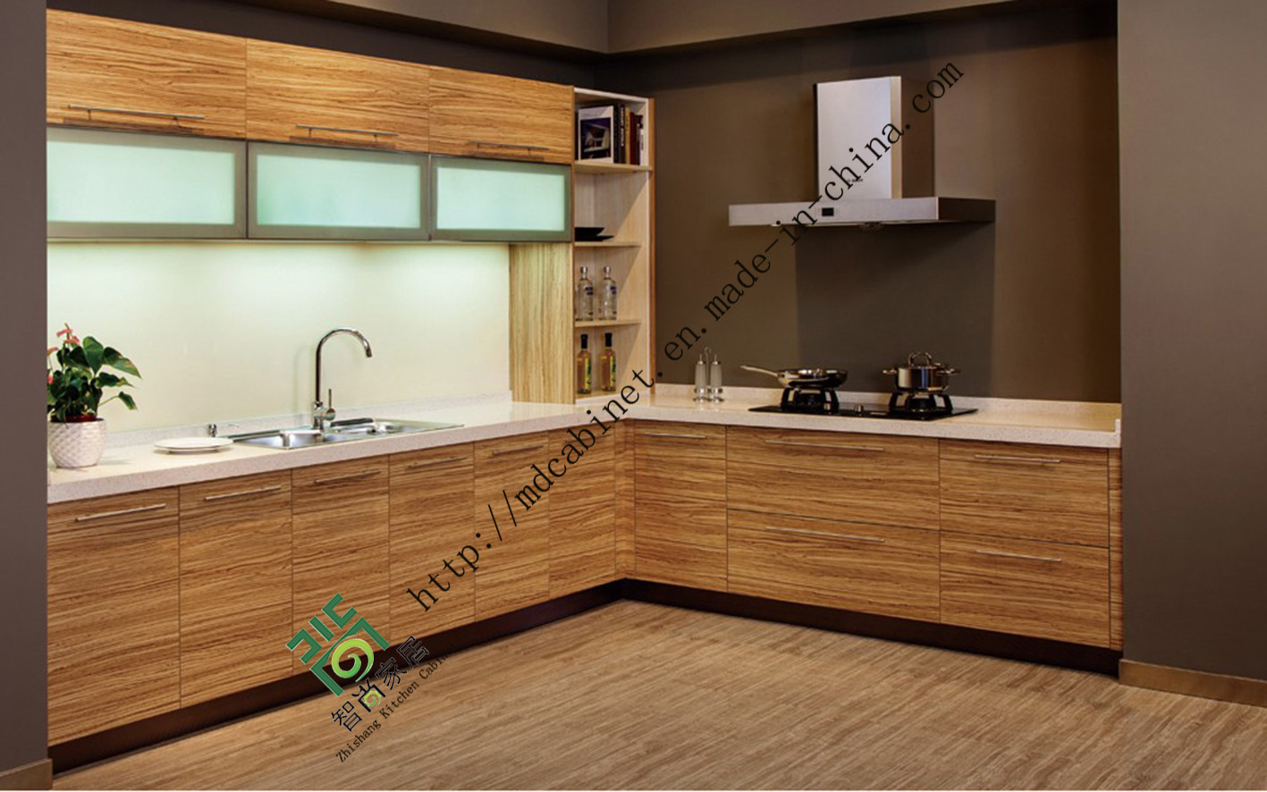 China Wooden Melamine Kitchen Cabinets (ZS 06) Photos & Pictures . Full resolution  portrait, nominally Width 1417 Height 886 pixels, portrait with #946637.
