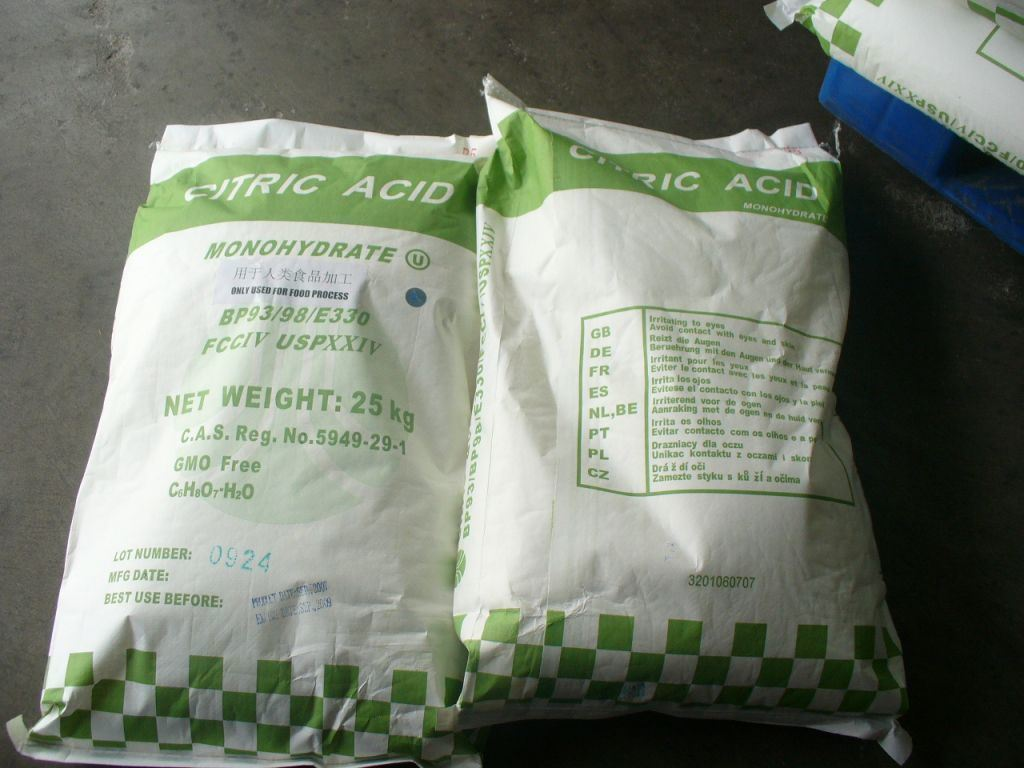Citric Acid Monohydrate Citric Acid Anhydrous