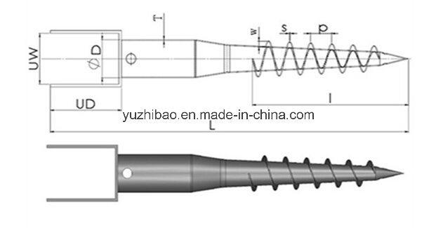 Galvanized Ground Anchor, Fence Anchor, Ground Screw