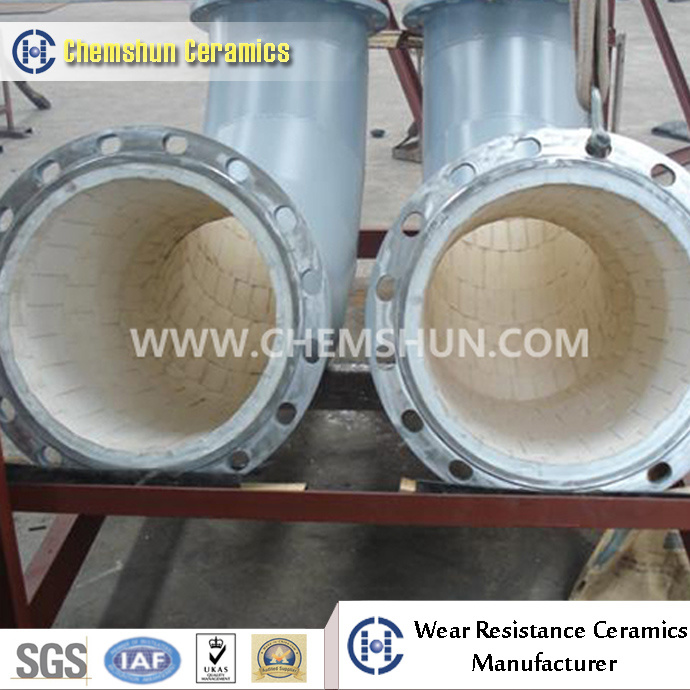 Abrasive Resistant Ceramic Elbow Pipe for Pipeline with High Quality