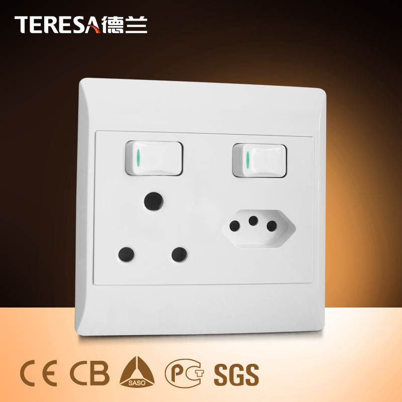 South America Wall Socket and Switch