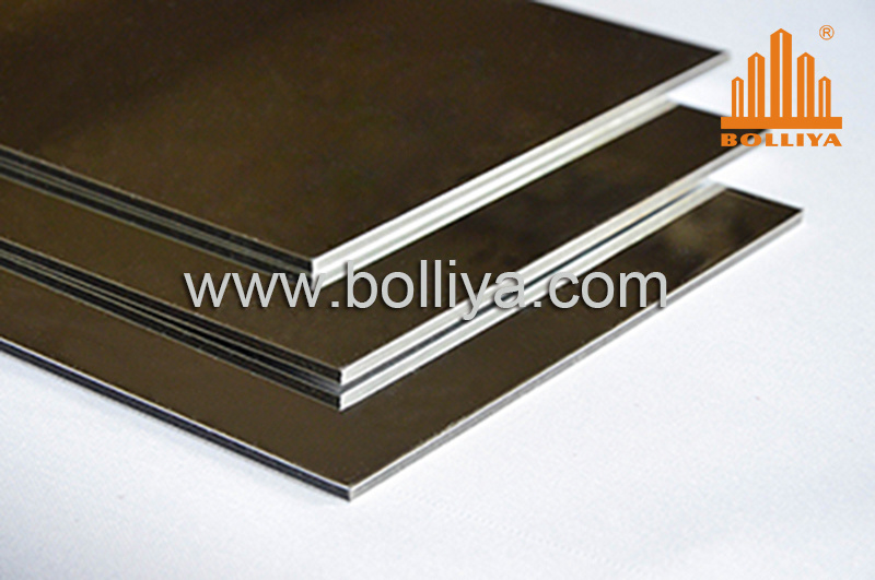 Silver Mirror Anodized Aluminum Composite Panels Ad833