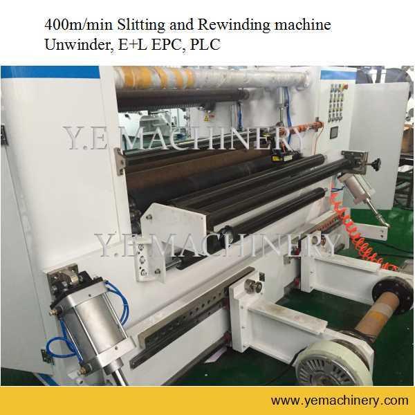 High Speed PLC Control Plastic Film Slitting and Rewinding Machine