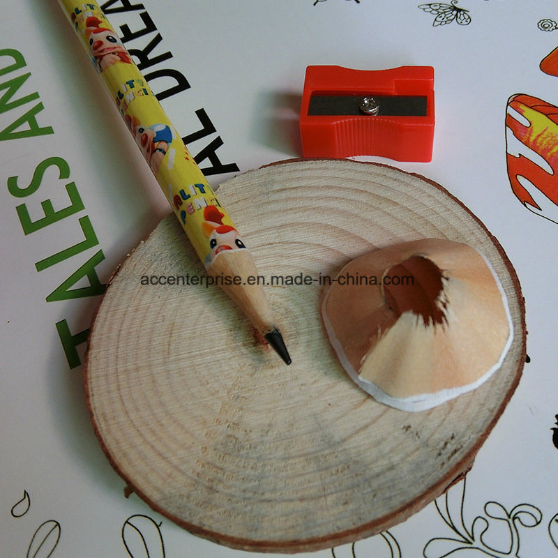 Hot Stamping Black Wood Pencil with Eraser