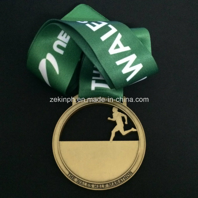 Custom Marathon Competition Medals with Ribbon