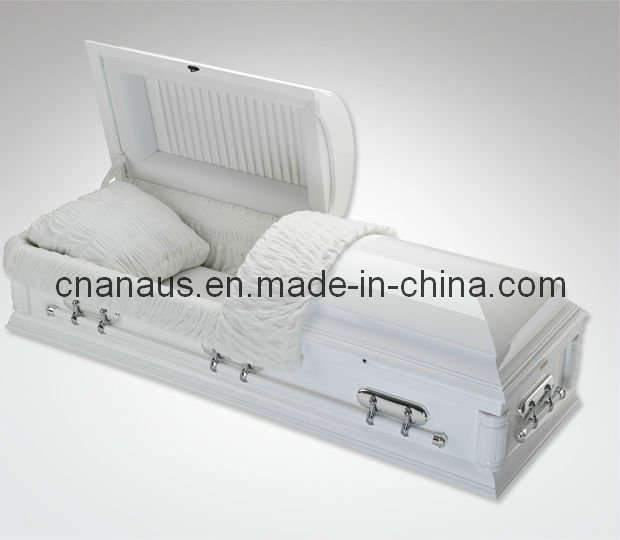 US Style Solid Poplar Wood Casket (3WH0021)