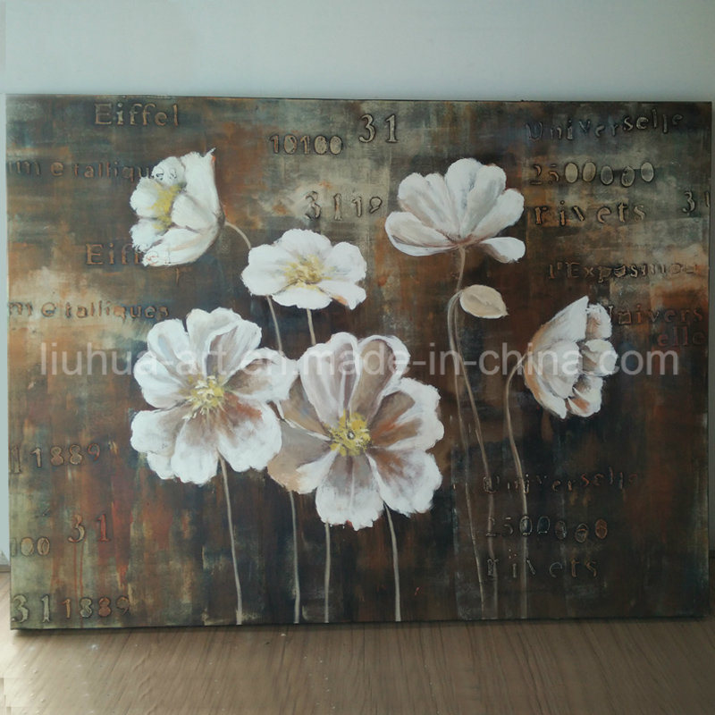 Spring White Flower Classic Painting on Canvas (LH-245000)