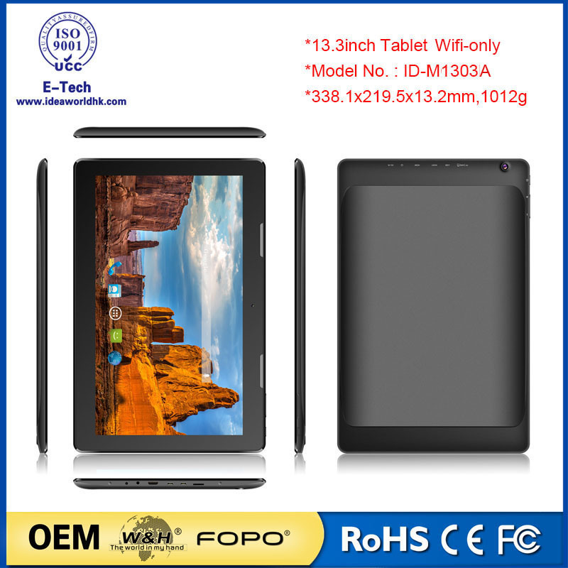 13.3inch 1920X1080 IPS Ad Player Cheap Big Android Tablet PC