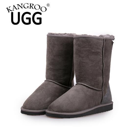Classic Double Face Sheepskin Winter MID-Calf Boots for Men and Women