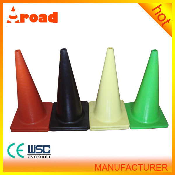 Traffic Safety Facilities 70cm PVC Traffic Cone Roadway Safety