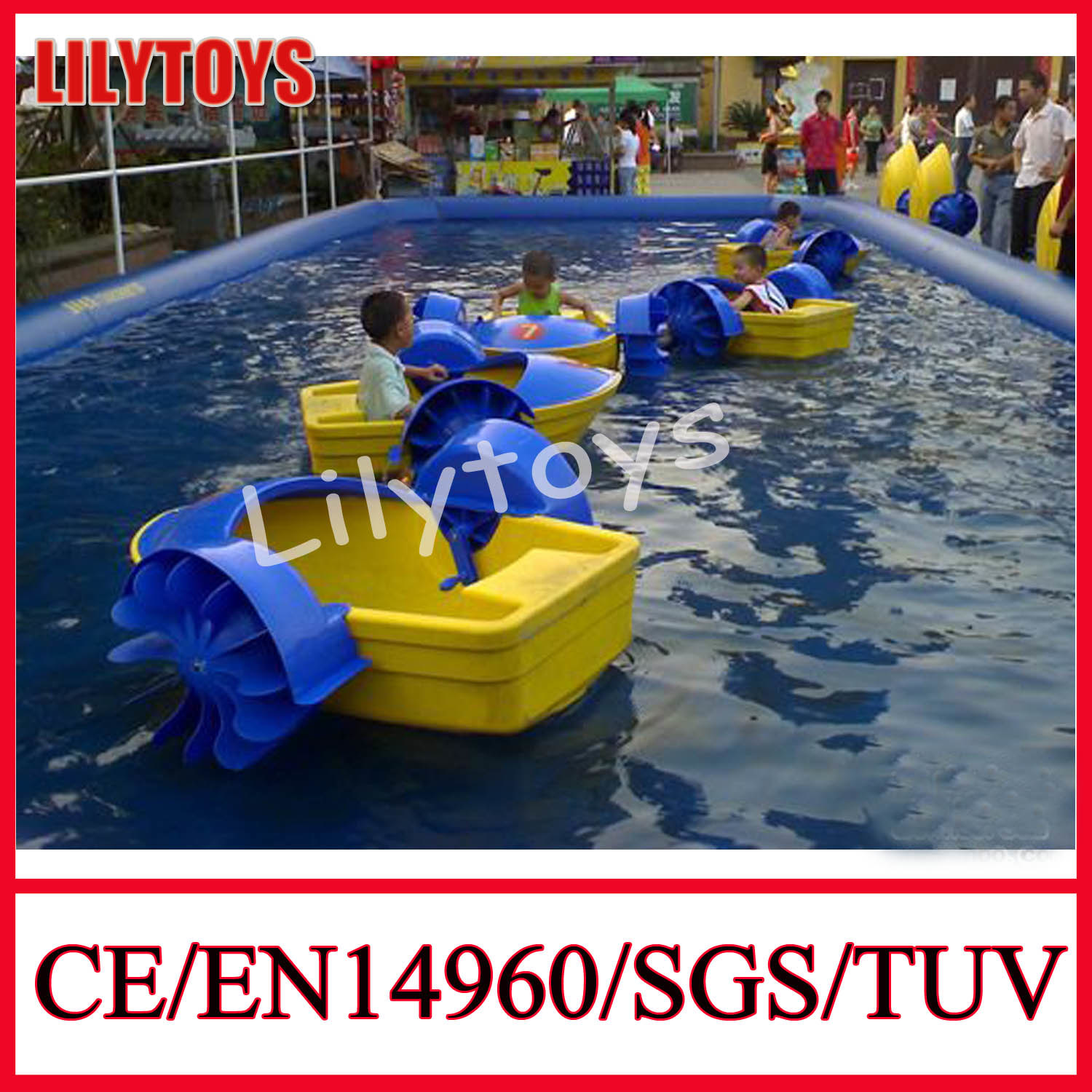 china water toy swimming pool kids plastic hand boat for sale
