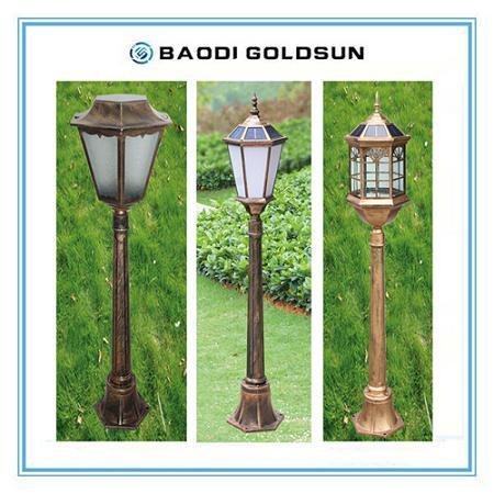 Solar Powered Aluminum Path Light