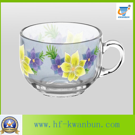 Nice Glass Mug with Decal Flower Good Price