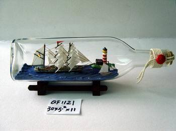 Glass Bottle Boat