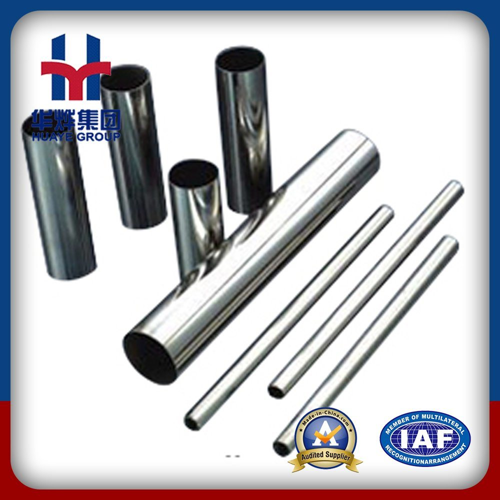 Huaye Grade 201 304 Prime Stainless Steel Pipes for Decoration
