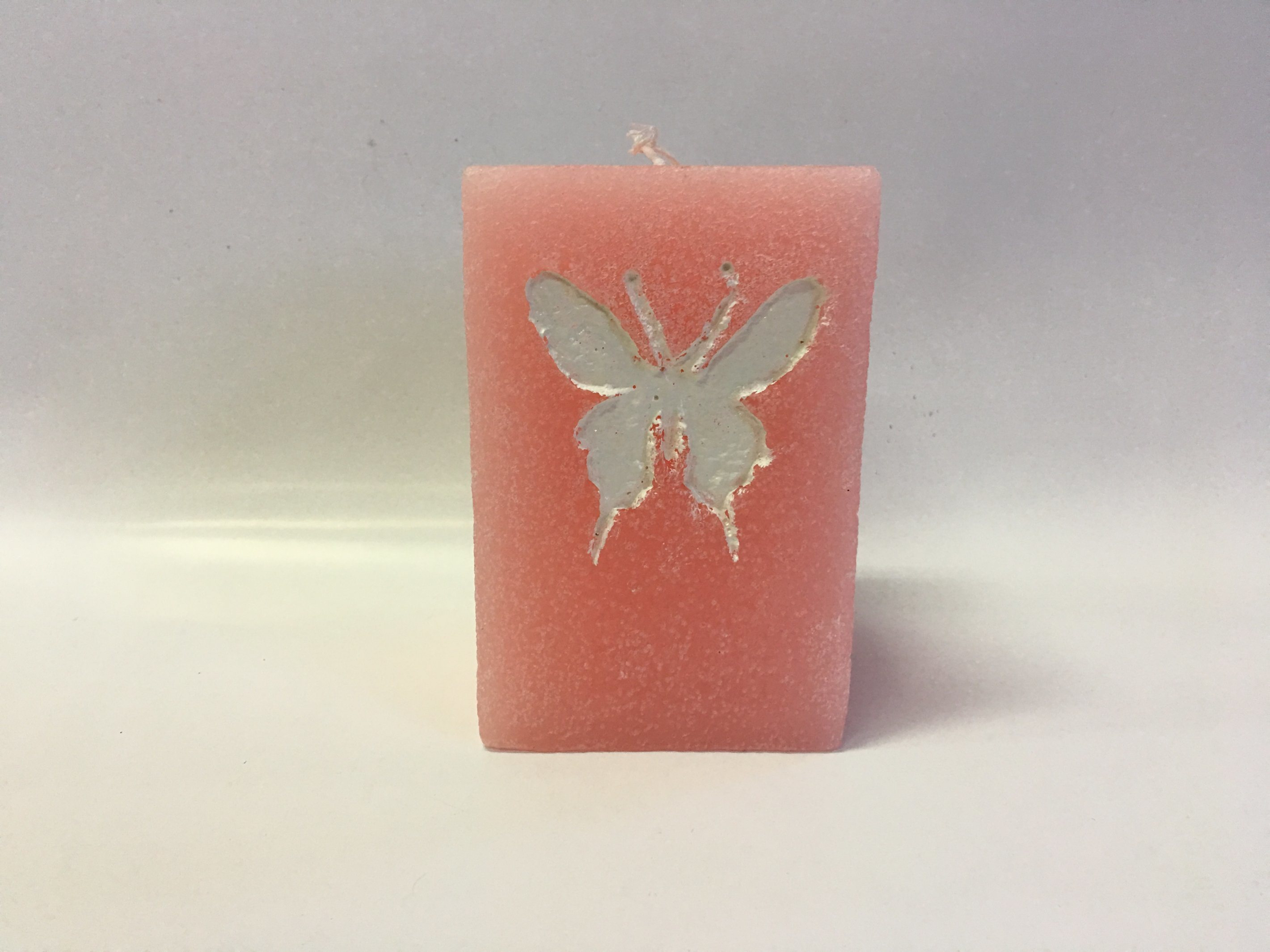 Hot Selling Butterfly Curved Paraffin Wax Candle