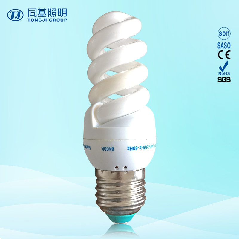 Energy Saving Lamp 11W 13W 15W Full Spiral Tri-Color E14/E27/B22 220-240V