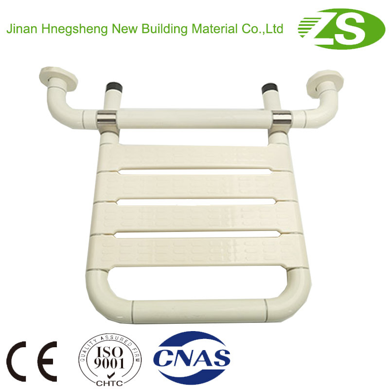 Wall Mounted Safety Nylon Folding Bath Seat for Disabled
