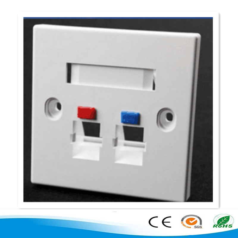 2016 High Quality Network Single Port RJ45 Faceplate 86 Type Wall Plate