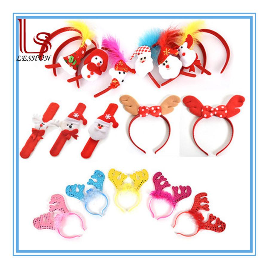 Christmas Decorations Red Santa Snowman Santa Bear Headdress Head Buckle Hand Band Waist Band Hair Band