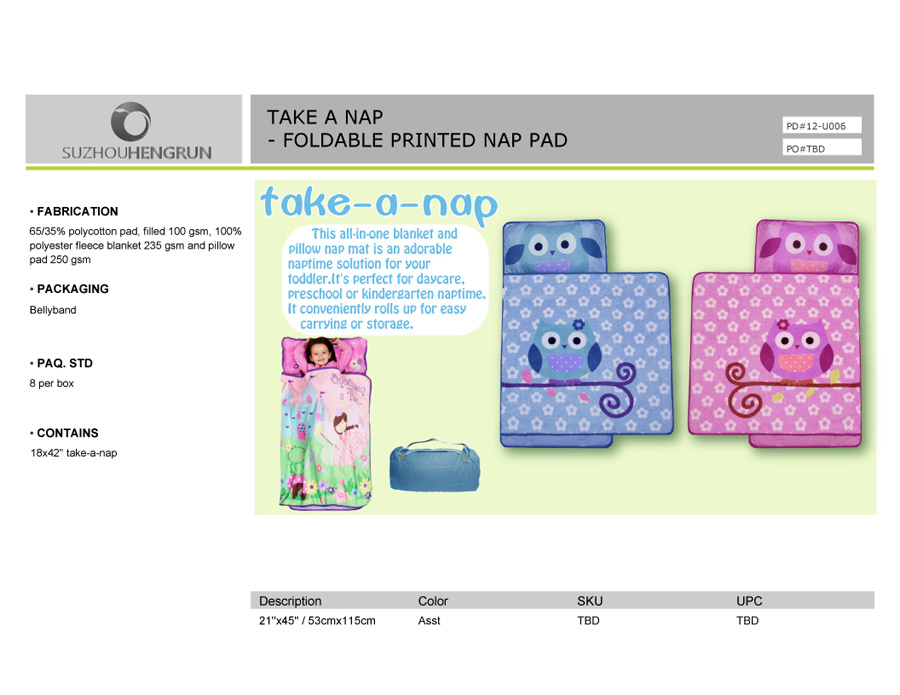China Kids Line Nap Mat Owl Photos Amp Pictures Made In