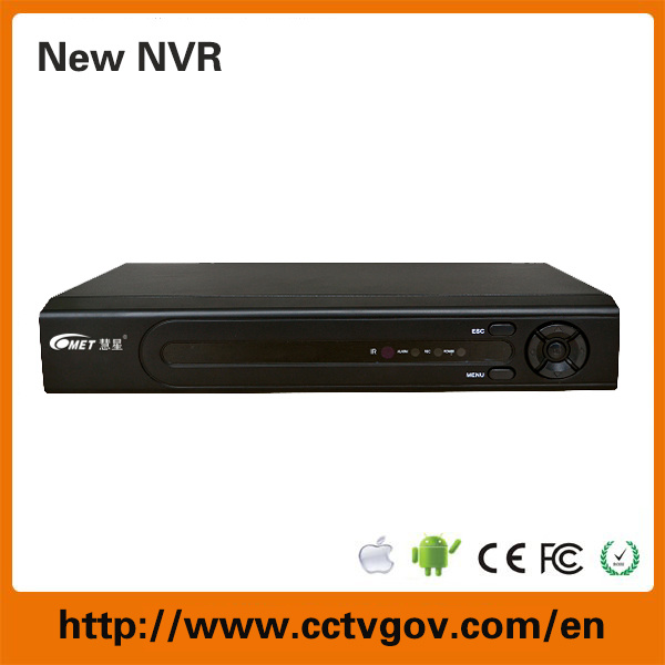 8CH 1080P 720p Standalone NVR with P2p Onvif 1-SATA Recording