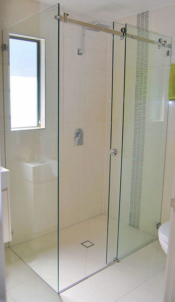 Study Room Glass: China Frameless Glass Sliding Door For Study Room/Shower