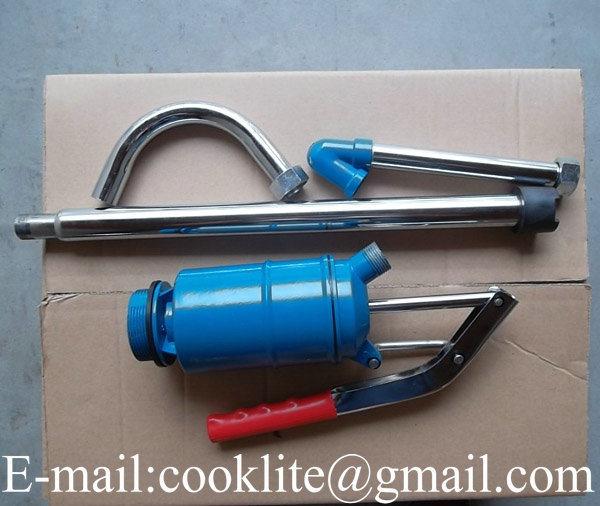 Lever Action Steel Barrel Drum Piston Pump for Gas Oil Diesel Grease - 22L/Min