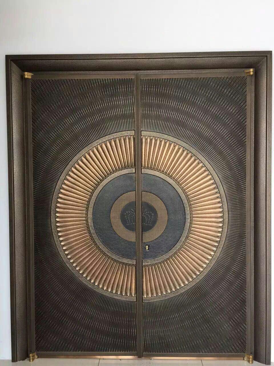 Special Pattern Design Security Copper Door