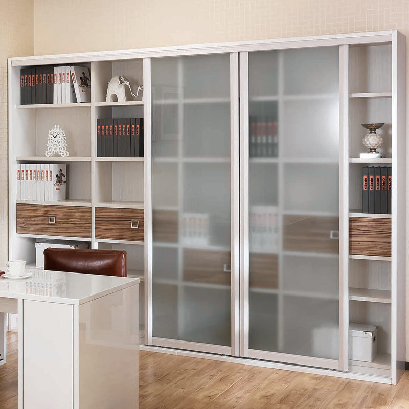 frosted glass door wooden book cabinet sg21107a252